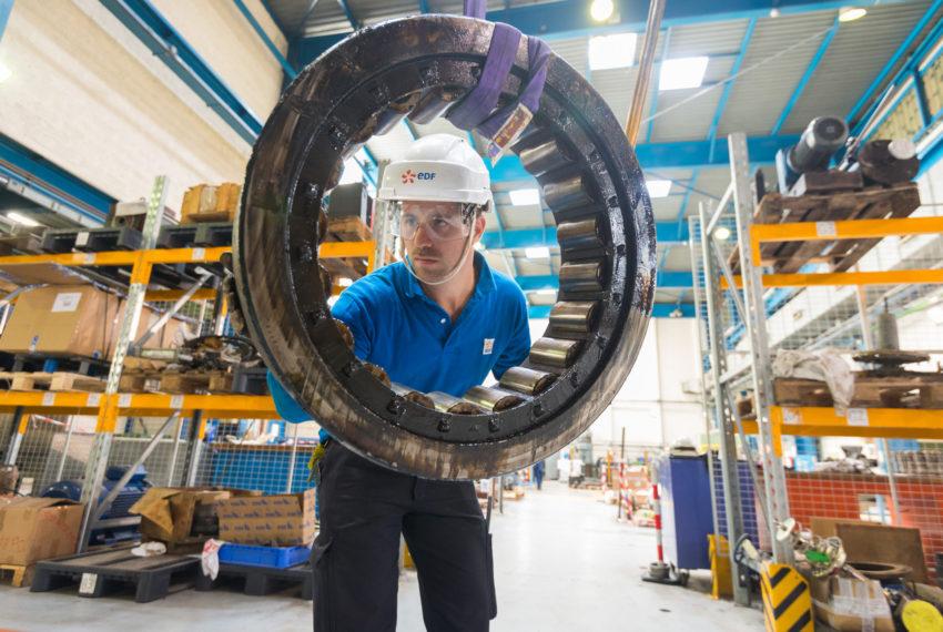 EDF Cordemais Manutention dans les ateliers