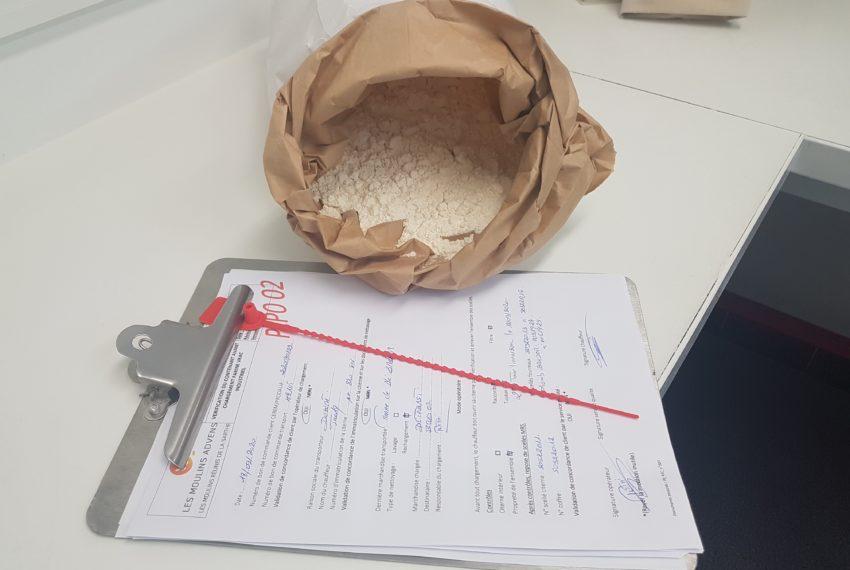 Moulins Réunis Sarthe échantillon farine vrac
