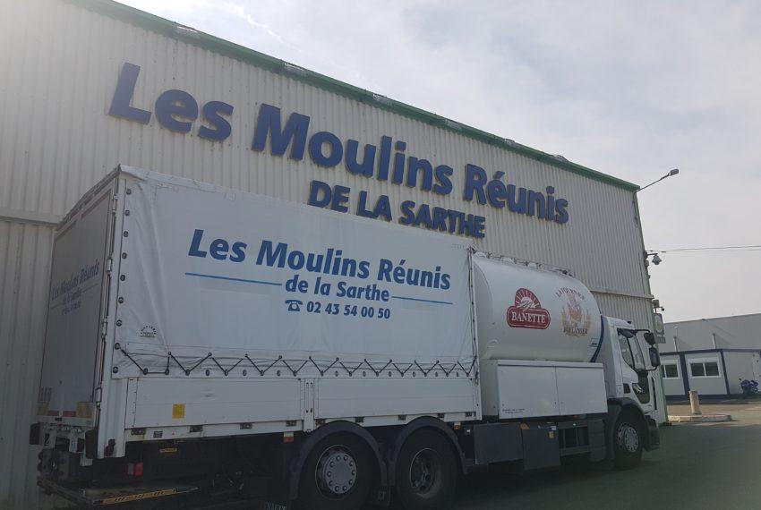 Moulins Réunis Sarthe camion livraison BA 2